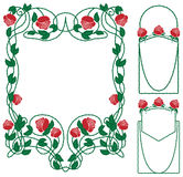Rose  floral border Royalty Free Stock Images
