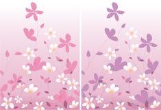 rose floral deux de conception Image stock