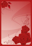 Rose_floral_frame stock de ilustración