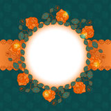 Rose floral frame design. Floral frame with place for your text Royalty Free Illustration