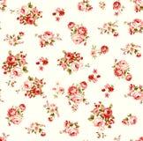 Rose floral illustration pattern with beautiful leaf vector illustration