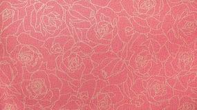 Rose Floral Pattern Fabric Background vermelha retro fotos de stock
