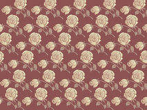 Rose floral patterns. Illustration of classical rose floral patterns Royalty Free Stock Photos