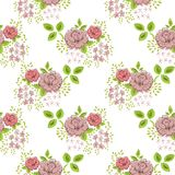 Rose floral seamless vintage pattern Royalty Free Stock Photography