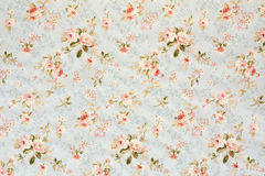 Rose floral tapestry wallpaper Royalty Free Stock Image