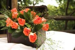 Rose flower arrangement stock photo