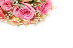 Rose flower Art design white background. Pink rose bouquet with white background, art design Royalty Free Stock Photo