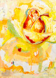 Rose flower artistic acrylics paint Royalty Free Stock Photo