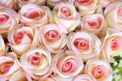 Rose flower. The background of cloth art rose flowers Royalty Free Stock Images