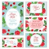 Rose Flower Banners Photographie stock libre de droits