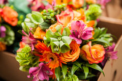 Rose flower bouquet Stock Photography