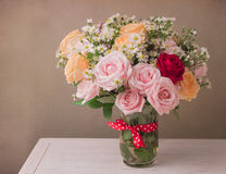 Rose flower bouquet for Mother's Day celebration Royalty Free Stock Image
