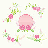 Rose flower element Royalty Free Stock Images
