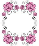 Rose flower frame Royalty Free Stock Photos