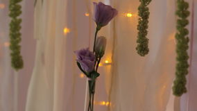 Rose Flower Garland Lamp of Background stock footage