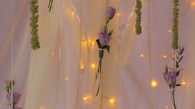 Rose Flower Garland Lamp of Background stock video