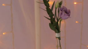 Rose Flower Garland Lamp del fondo almacen de video