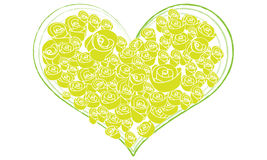 Rose flower in the heart shaped Stock Image