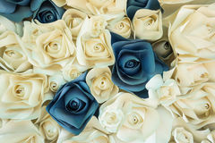Rose flower made of paper Royalty Free Stock Photos