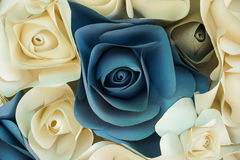 Rose flower made of paper Stock Photos