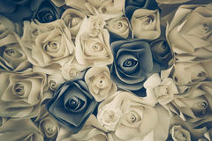 Rose flower made of paper Stock Image