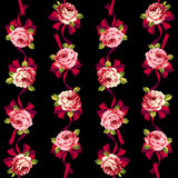 Rose flower pattern, Stock Photo