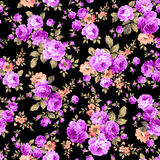 Rose flower pattern, Stock Photography