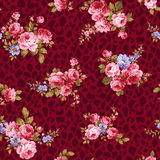 Rose flower pattern, Stock Images