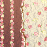 Rose flower pattern, Shabby Chic with roses stock illustration