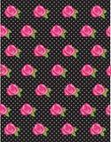 Rose Flower Polka Dot Pattern Fotografía de archivo libre de regalías