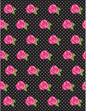 Rose Flower Polka Dot Pattern Royalty Free Stock Photography