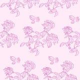 Rose Flower Seamless Pattern Background rosada Fotos de archivo
