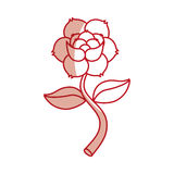 Rose flower tattoo icon Stock Image