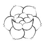 Rose flower tattoo icon Stock Photography