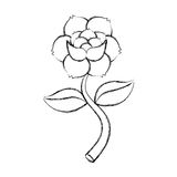 Rose flower tattoo icon Royalty Free Stock Images
