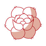 Rose flower tattoo icon Royalty Free Stock Image