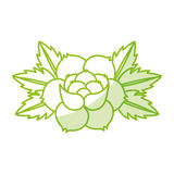 Rose flower tattoo icon Royalty Free Stock Photos