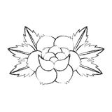 Rose flower tattoo icon Stock Photo