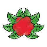 Rose flower tattoo icon Royalty Free Stock Photography