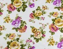 Rose Flower Texture del modelo de seda tailandés imágenes de archivo libres de regalías