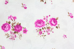 Rose Flower Texture of Thai silk pattern Stock Images