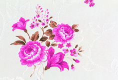 Rose Flower Texture of Thai silk pattern Stock Photography