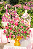 Rose flower tray with pedestal Stock Images