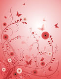 Rose flower vector background Royalty Free Stock Photos