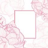 Rose Flower Vintage Frame Photo stock