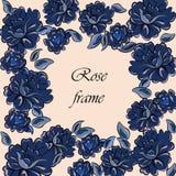 Rose Flower Vintage Frame Images stock