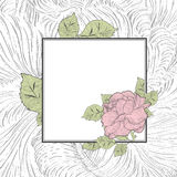 Rose Flower Vintage Frame Royalty Free Stock Photography