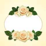 Rose flowers arrangement and frame Stock Photo