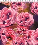 Rose flowers background template for notebook Vector. Realistic 3d flowers. Rose flowers background template for notebook Vector. Realistic 3d flower decor vector illustration