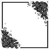 Rose Flowers bianca nera illustrazione di stock